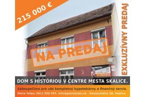 Dvojgeneračný dom s históriou v centre mesta Skalica