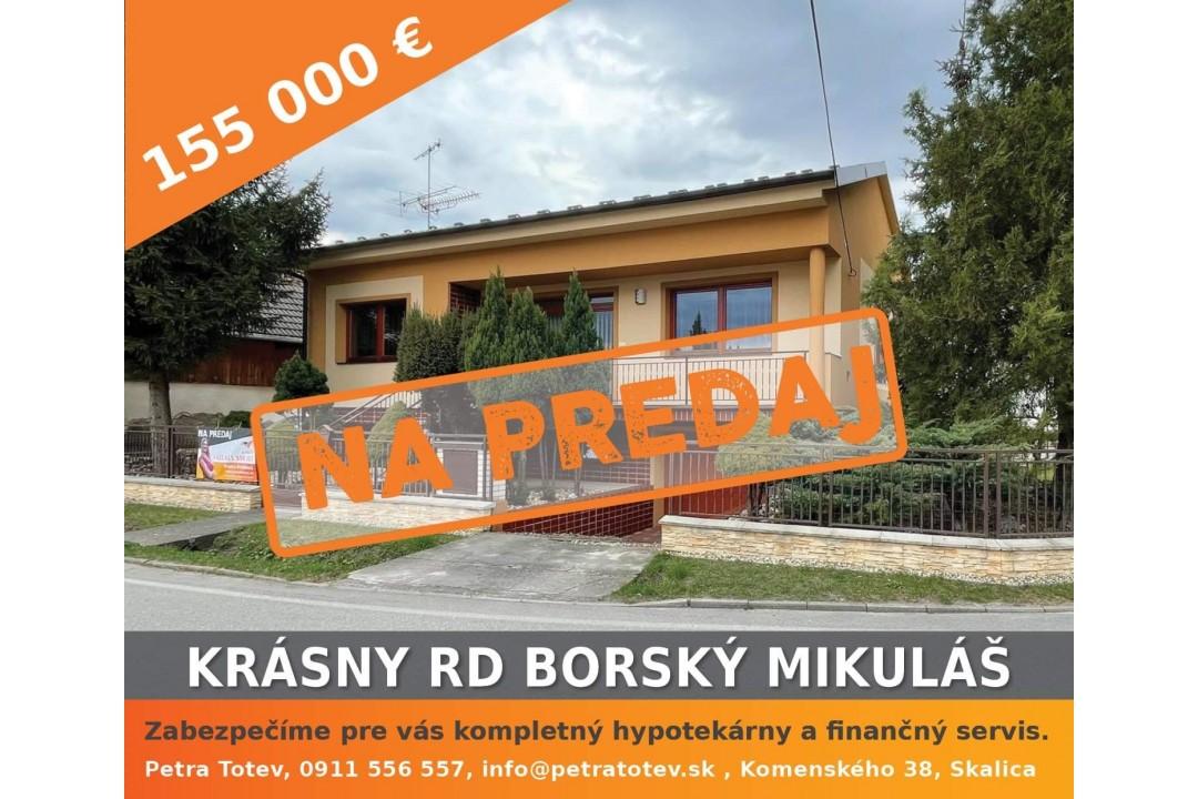 Rezervovany Krásny RD v Borskom Mikuláši