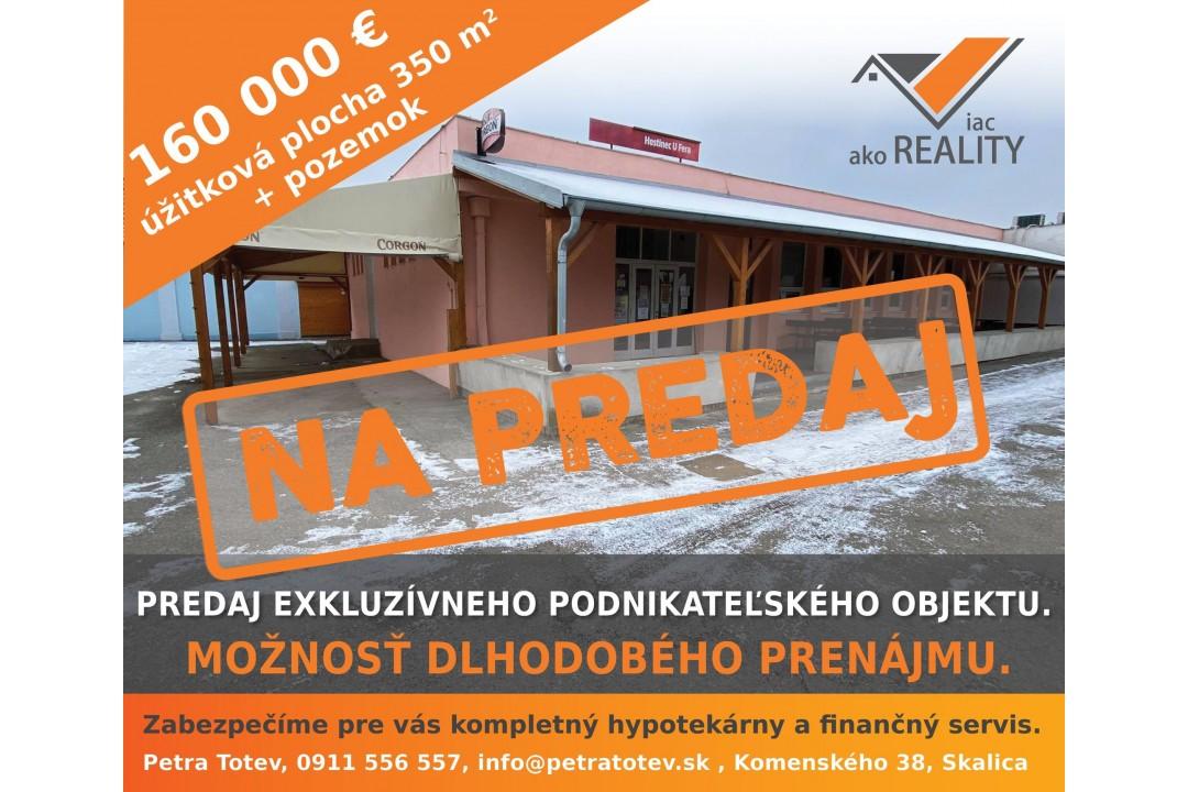 Exkluzívny podnikateľský objekt v centre obce Vrádište